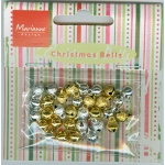 Marianne Design Card Charms- Bells - Silver/gold