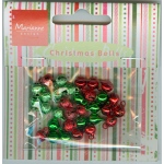 Card Charms- Bells - Red/Green