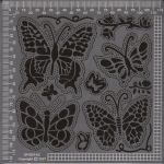 Ecstasy Crafts Exclusive Templates Small -Butterflies