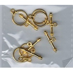 Nellie's Choice Bracelet Toggles - 1180 Gold (5Pcs)