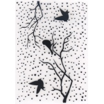 Embossing Folder - Snowy Scene With Birds