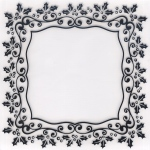 Embossing Folder -Christmas Rectangle Holly Frame