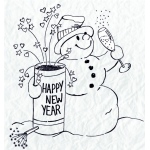 Clear Stamp - Snowmen Series - Happy New Year!!!