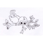 Nellie's Choice  Clear Stamp - Ready To Fly Away
