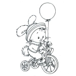 Clear Stamps - Hoppie's Biking