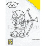 Nellie's Choice Clear Stamps - Young Rebels - Indian Warrior