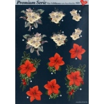 3D Premiumserie, 6 pcs Flowers 09 Cutting Sheets