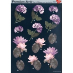 3D Premiumserie, 6 pcs Flowers 06 Cutting Sheets