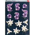 3D Premiumserie, 6 pcs Flowers 02 Cutting Sheets