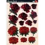 3D Decoupage Sheets A4, 6 pcs Roses 06 Cutting Sheets