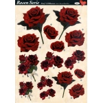 3D Decoupage Sheets A4, 6 pcs Roses 05 Cutting Sheets