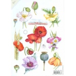 Decoupage Print- poppies