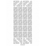 Deco Stickers - Flower Corners: Silver