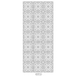 Deco Stickers - Floral Squares: Silver