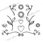 Clear Stamps - Quilling Flowers & Hearts
