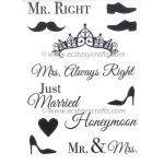 Marianne Design  Clear Stamp Set: Mr & Mrs