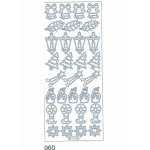 Deco Stickers - Christmas: Silver
