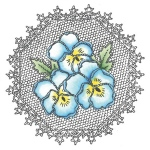 Clear Stamps - Pansies