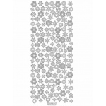 Deco Stickers - Small Snowflakes: Silver