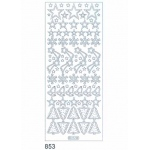 Deco Stickers - Stars/ Bells: Silver