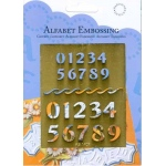 Embossing Template - Numbers (2)(AB1407)