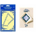 Double Stencil cut out Square/Triangle(KM3330)
