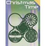 Christmas Time template - 4 ornaments