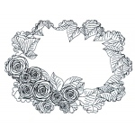 CE Foam Stamps -Cabbage Rose Frame