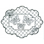 Creative Expressions Ce Foam Stamps - Butterfly Trellis