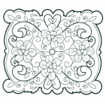 CE Foam Stamps - Floral Filigree