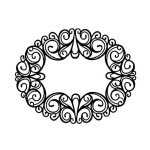 Foam Mounted Cling Stamps - Oval Ironwork