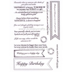 Creative Expressions Pierced Flag Sentiments Stamp Set