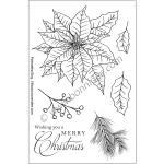 Ecstasy Crafts Bonnidée Stamps - Poinsettia 1 English