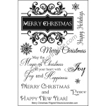 Bonnidée Stamps - Merry Christmas Filigree