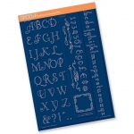 Groovi  Plate Mate Borders - Art Deco Alphabet