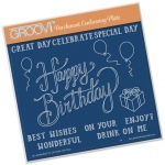 Groovi  Happy Birthday Ribbon A5 Sq