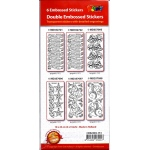 Sticker - 6 Pack Double Embossed