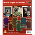 Stickers - Photo Frames - Gold/Silver: Transparent Silver