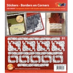 Stickers - Corners/Frames - Gold/Silver: Transparent Silver