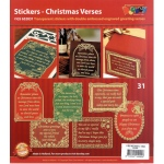 Christmas Verses - Gold/Silver: Transparent Silver