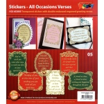 All Occasions Verses - Gold/Silver: Transparent Silver