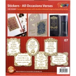 All Ocassions Stickers Assorted Gold/Silver: Transparent Gold
