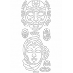 Deco Stickers - Masks: Silver