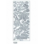 Deco Stickers - Leaves: Silver
