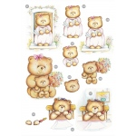 Craft UK Cute Girly Bears .