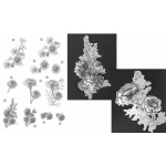 Craft UK Floral - Carnations - Silver