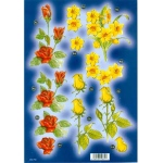 Craft UK  - Red Rose, Yellow Rose, Daffodils With Gold