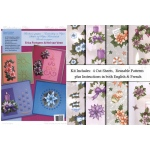 Ecstasy Crafts Embroidery &3D Paper Kit-Flowers 3