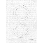 Spirelli Cards/Templates Double Circles White & Yellow (SP2532