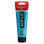 Royal Talens Amsterdam® All Acrylic Standard Series 120ml Turquoise Blue: Blue, Tube, 120 ml, Acrylic, (model 17095222), price per tube